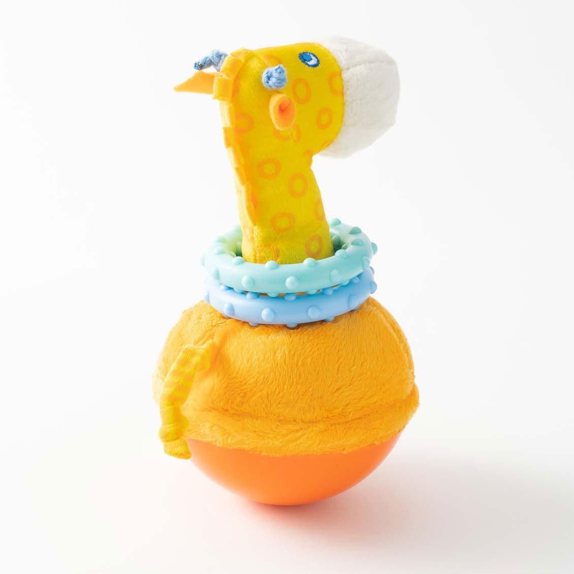 おきあがり人形・キリン|布のおもちゃ