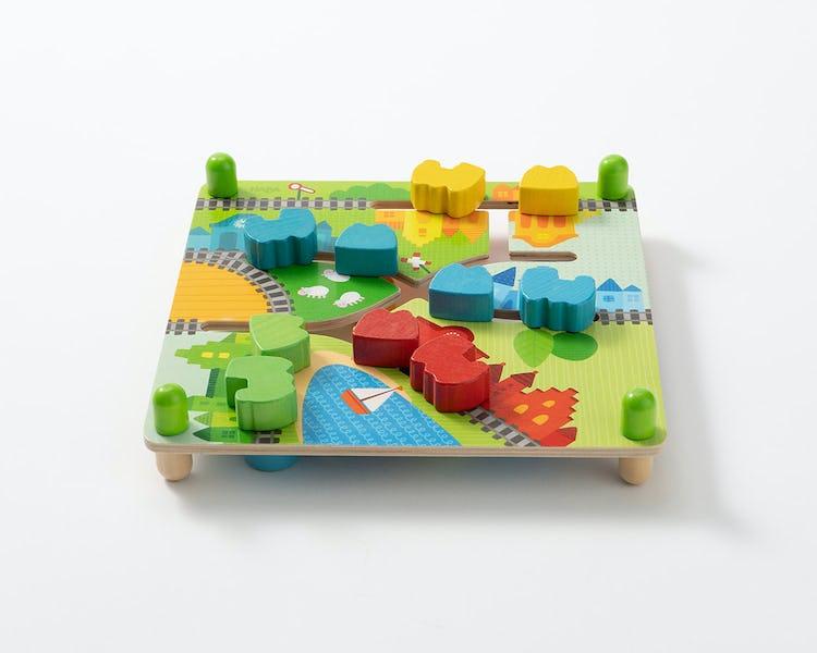 木のおもちゃ スライドボードトレイン