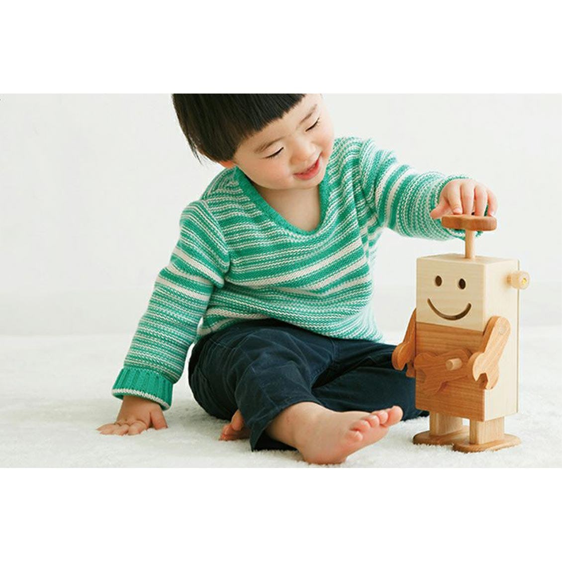 ロボットくん|木のおもちゃ