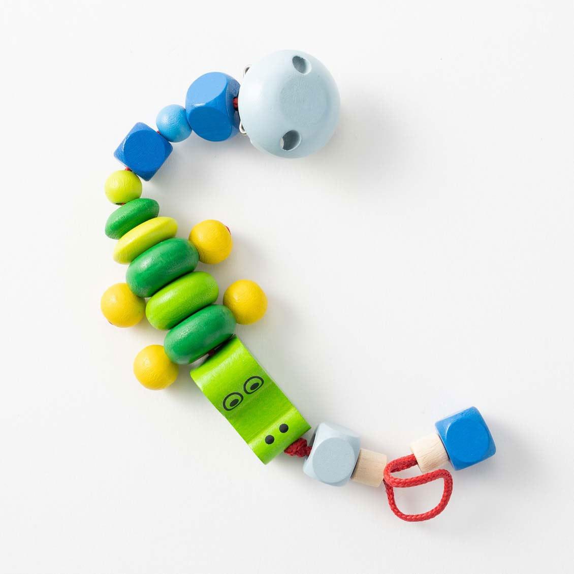 ビードクリップ・クロコ|ベビーカー用おもちゃ