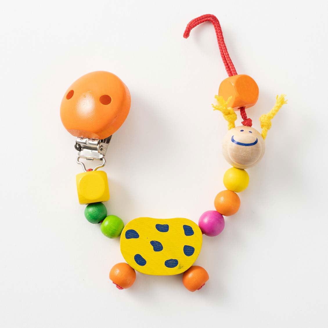 ビードクリップ・ジラフ|ベビーカー用おもちゃ