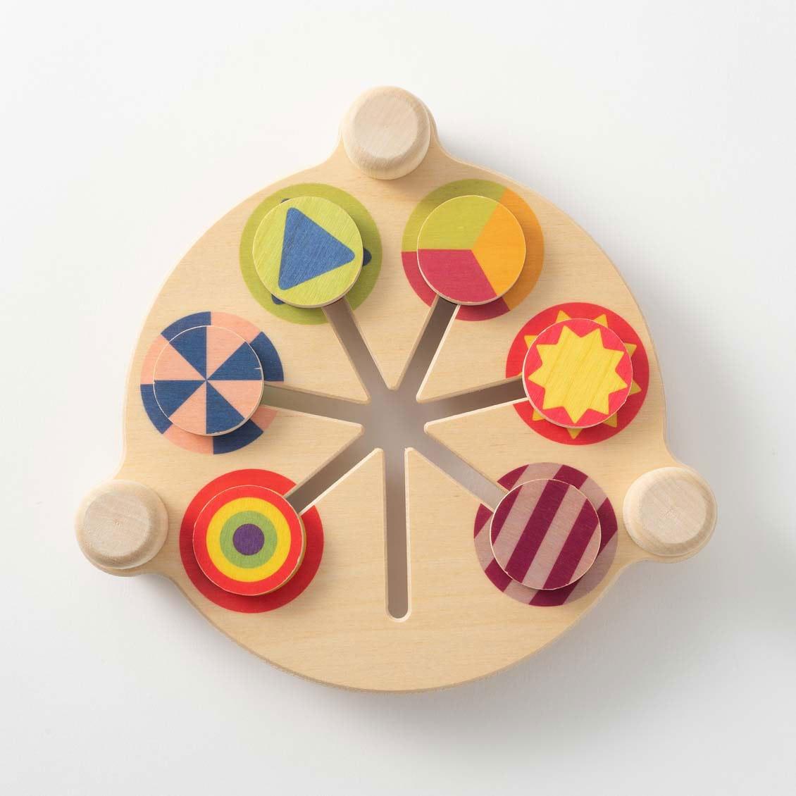 スライドカラー|木のおもちゃ