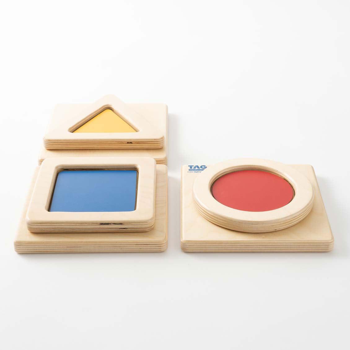 色と形の触覚板|木のおもちゃ